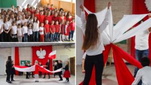 Uczniowie naszej szkoły w biało-czerwonych barwach z okazji Święta Niepodległości