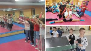 Tańce, sztuki walki, tenis stołowy - rozwijanie zainteresowań.