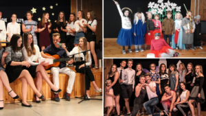 Uczniowie na scenie - zajęcia teatralne