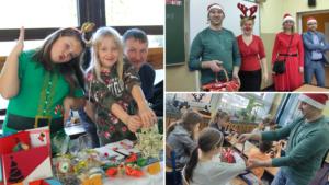 Kiermasz świąteczny oraz rozdawanie upominków przez Radę Rodziców 6 grudnia.